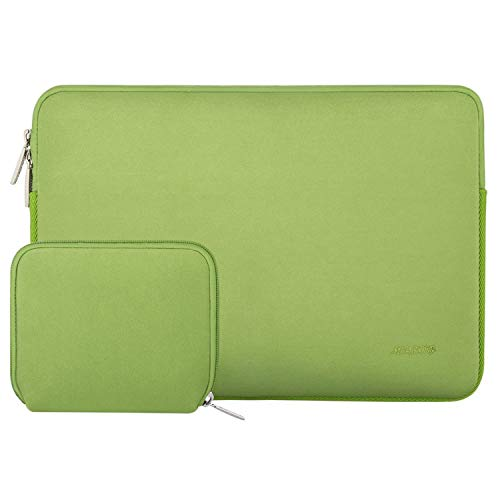 MOSISO Funda Protectora Compatible con 13-13.3 Pulgadas MacBook Air/MacBook Pro Retina/Surface Laptop 2 2018 2017/Surface Book 2/1, Bolsa de Neopreno Repelente de Agua con Pequeño Caso, Greenery