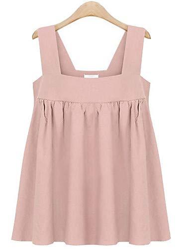 IYFBXl Damen Out-Size-Tank top aus Baumwolle - einfarbiges Armband, erröten Pink, XXXXXL -