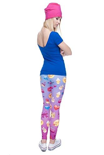 Emoji Leggings für Damen - Top Qualität - Smileys Emoji Emoticons Sommer Hipster Emoji Girl