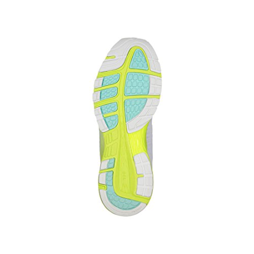 Asics Dynaflyte 2, Scarpe Running Donna Bianco (White/safety Yellow/aruba Blue 0107)