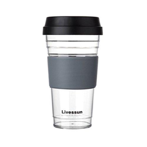 JE Water bottle Tritan-Wasser-Flaschen-Tropfen-Widerstand-Saft-Kessel-Kaffeetasse-Plastik einfach 480ml (Farbe : - Sippy Saft Cup
