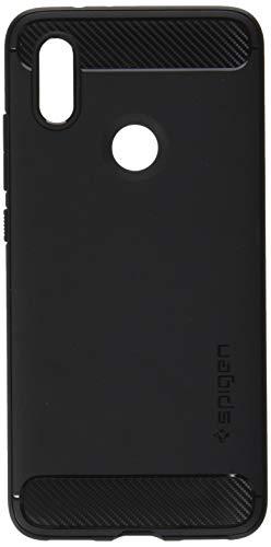 Spigen S13CS24394 Rugged Armor für Xiaomi Mi A2 Hülle Karbon Erscheinungsbild Soft Flex TPU Silikon Schutzhülle Case - Schwarz