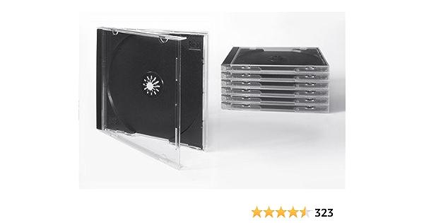 Tillmann Media Cd Hüllen Jewelcase Für 1 Cd Dvd Tray Schwarz Deckel Und Rückenteil Transparent Glasklar