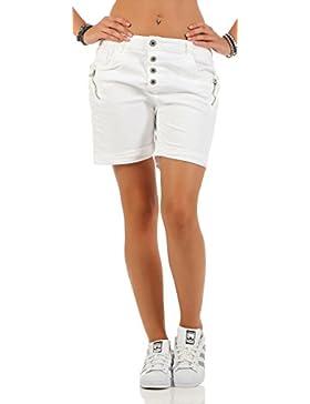 SKUTARI Kurze Damen Hosen Jeans Shorts Baggy Boyfriend