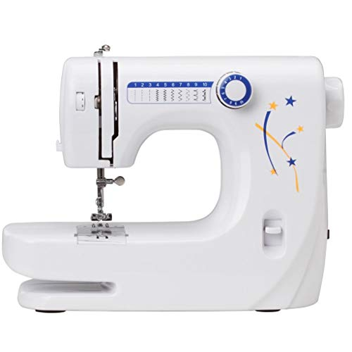 Qualimate 10 Stitches 608 Multi-Functional Household Hand Sewing Machine for Home, Electrical Portable Sewing Machine for Home Tailoring (Multi-Color)