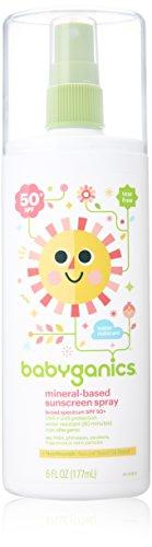 BabyGanics - Sunscreen Spray-Mineral gründete Duft freies 50 SPF - 6 Unze.