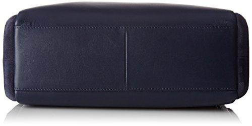 Le Tanneur Damen Anae Umhängetasche, 12 x 22 x 31 cm Blau (Tricolore)
