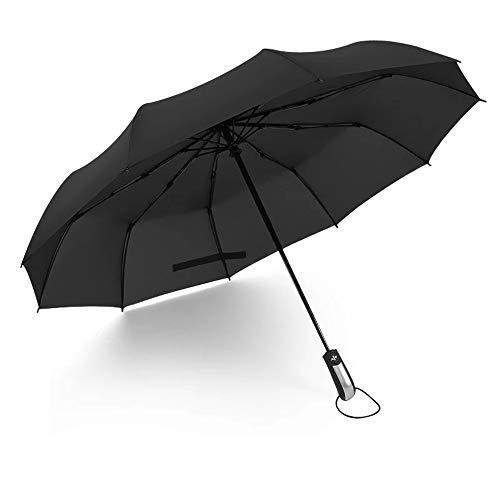 LYJZH Regenschirm - robust, windsicher und sturmfest, windfester Taschenschirm Automatikschirm Zehnknochenschirm Faltsonnenschirm Farbe1 105cm