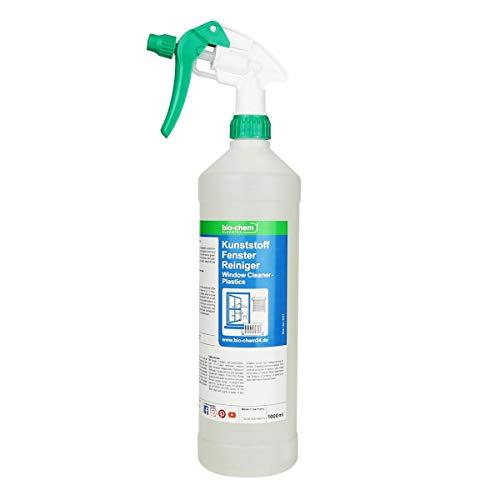 bio-chem Kunststoff Fenster Reiniger Nikotin Farb-und Kleberückstände 1000 ml