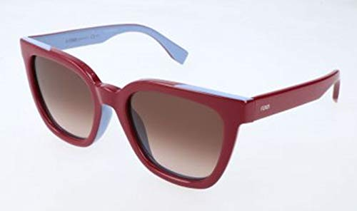 Fendi Damen FF 0121/F/S MFU/K8-53-20-140 Sonnenbrille, Rot, 53