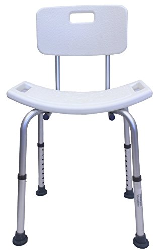 Duschsitz m Rückenlehne Duschstuhl Badestuhl Duschhocker 150 kg Duschhilfe TrutzHolm® by Baumarktplus
