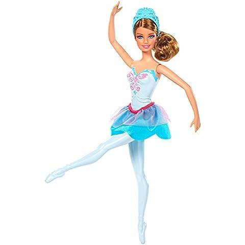 Barbie - Muñeca bailarina con zapatos y traje color azul (Mattel X8824)