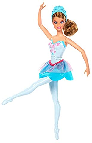 Mattel Barbie X8824 - Die verzauberten Ballettschuhe, Ballerina-Prinzessin, türkis, Puppe zum Film