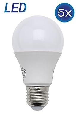 LED Lampe E27 10 Watt 806 Lumen ersetzt 60 Watt warmweiß 5er Set LED Leuchtmittel LED Birne Energiesparlampe LED Glühbirne LED Glühlampe