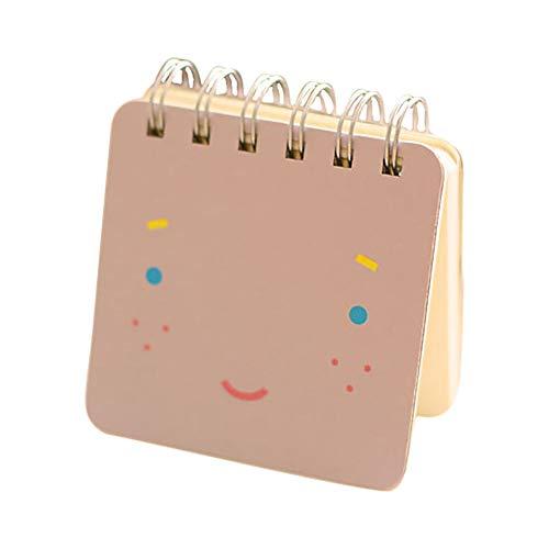 Fablcrew - Mini diario portatile, taccuino a fogli mobili, blocco note, motivo carino, diario per ufficio 8.9 * 8.9CM Violet