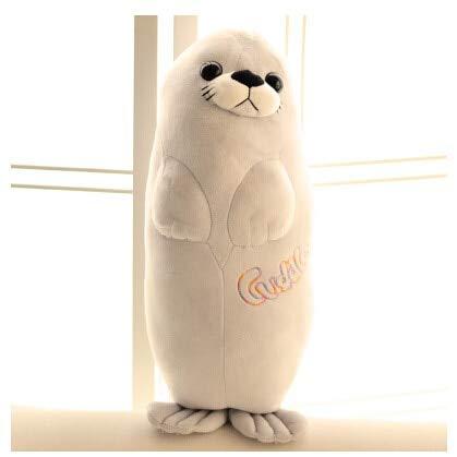 DishyKooker Kawaii Plüsch-Robben-Puppe, lebensechte Seelöwen, Plüsch-Spielzeug, Kuschelkissen, Kinderspielzeug, schöne Puppe, Freundin, Grey 40cm (Robbe Puppe)