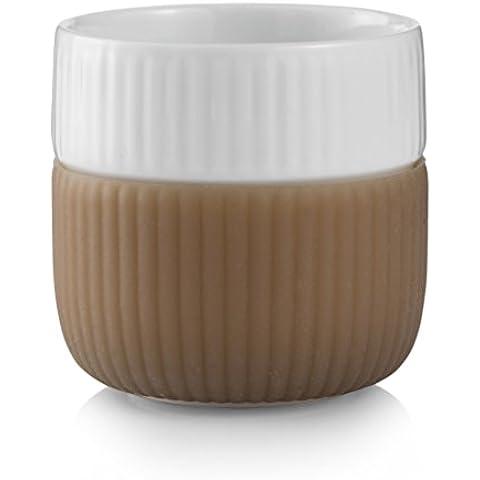Royal Copenhagen-Tazzine per Espresso, con bordo in contrasto, colore: caffellatte