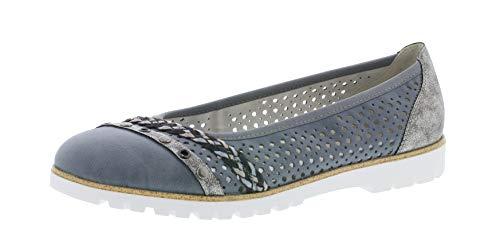 Rieker 42967 Damen Ballerinas,Flats,Sommerschuh,klassisch elegant,adria/altsilber/13,40 EU / 6.5 UK -