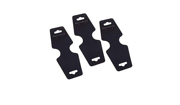 TOPBATHY 100 cartellini pieghevoli per collane colore: nero bigliettini gioielli