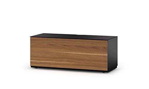 Sonorous STD 110F-BLK-WNT-BS Studio TV-Lowboard für 132,08 cm (52 Zoll) Fernseher schwarz/walnuß