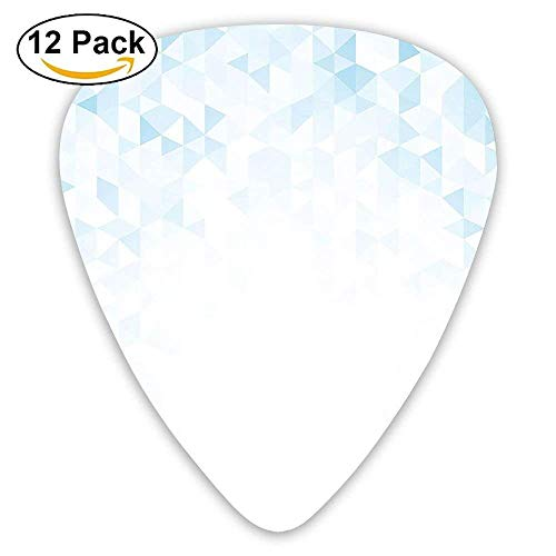 Gradient Soft Mosaic Background Fractal Triangle Forms Purity Modern Design Guitar Picks 12/Pack - 48 Triangle Form