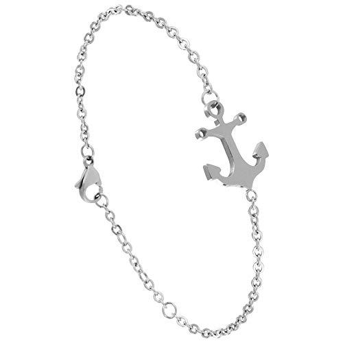 ANKERPUNKT Anker Armband Frauen Silber Größenverstellbar, Hautfreundlich und Nickelfrei Made in Pforzheim (Goldstadt)