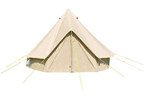 4m Bell Tent w Zipped in Groundsheet. 100% Cotton. Family Tent. Festival Tent. Bell Tent for camping. Bell Tent for the garden. Excellent Value. Life Under Canvas