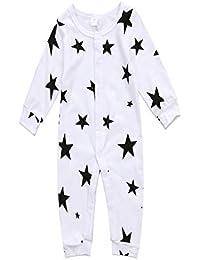 Ropa Bebe NiñA Verano Bebé De Verano De Cinco Puntas Estrella Vestido De Una Sola Pieza