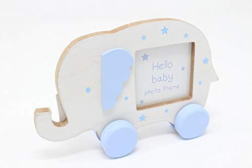 Piccolo blu elefantino cornice portafoto nursery