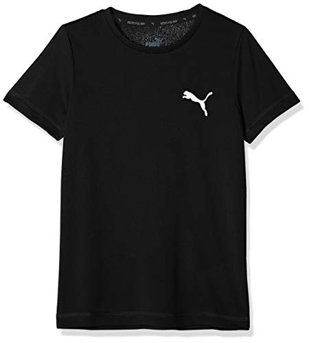 PUMA Jungen Active Tee B T-Shirt Black, 176