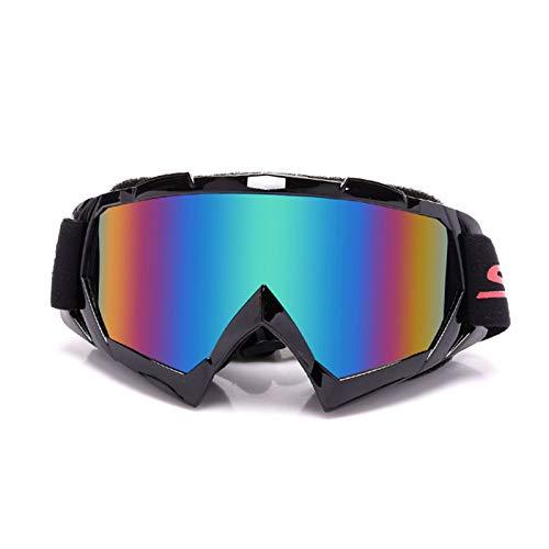 Epinki Uomo TPU+PC Moto Occhiali Protettivi Casco Occhiali Protettivi Set Snowboard Bicchieri Bicicletta Sicurezza Occhiali Protettivi per Moto Bicicletta Casco Compatibile, Nero Verde