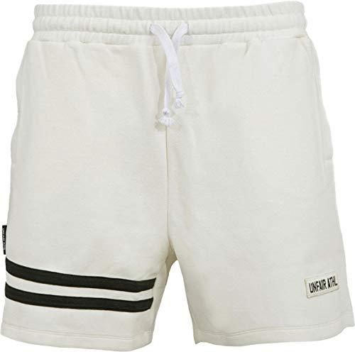 Unfair Athletics DMWU Pique Tennis Shorts Herren weiß/schwarz, M (Herren Shorts Athletic)