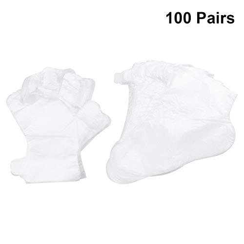 Lurrose 200pcs desechables guantes plástico cubre