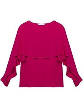 Motivi: Blusa donna in georgette con maxi balza sulla parte alta. (Italian size)