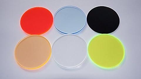 Verre acrylique, plexiglas, polycarbonate Découpe, rond, Disque, Fluorescent, plexiglas® Plateau Rond Ø 150mm–Ø 300mm Différentes tailles