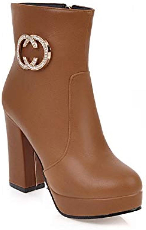 avec talon haut calibre bas bas bas épais tube martin bottes bottes pour dames b07hdpr3tc parent   Stocker  62bbfe