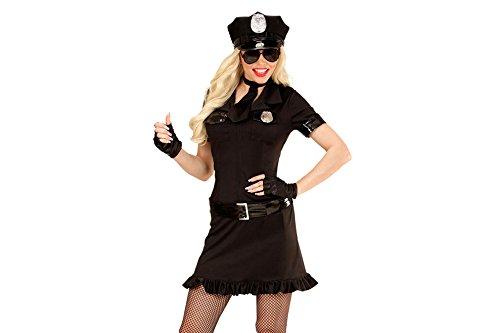 Widmann 49464 Erwachsenenkostüm Polizistin, Kleid, Gürte, schwarz, Größe XL