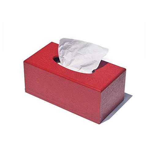 Taschentücher-Halter/Kosmetiktuch-Refill-Halter/Dekorative Servietten-Box Cover, Papier-Kosmetiktücher-Halter (größe : RED23 ×12× 10cm)