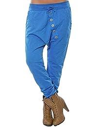 beautyjourney Pantalones de harén holgados de mujer Pantalones Bloom Pantalones casuales de Hip Hop Pantalones harem
