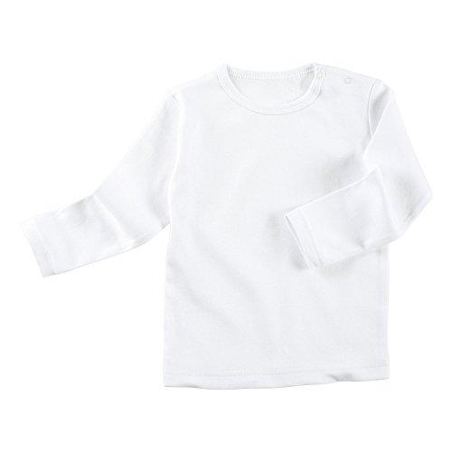 Baby Butt Langarmshirt Interlock-Jersey weiß Größe 86 / 92