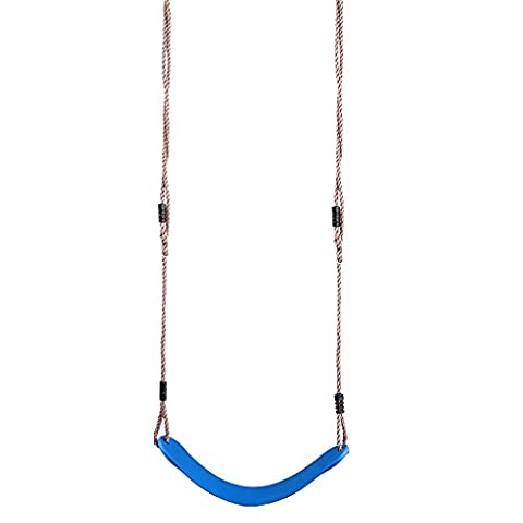 Eggdel Kids Hanging Swing Seat with Height Adjustable PE Rope Indoor and Outdoor Exercise Use Toy