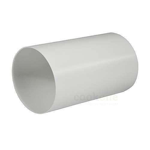 EASYTEC Rundrohr Ø 150 mm | Länge 50 cm | außen 152mm, innen 148mm | Kunststoffrohr Abluftrohr Rundes Rohr