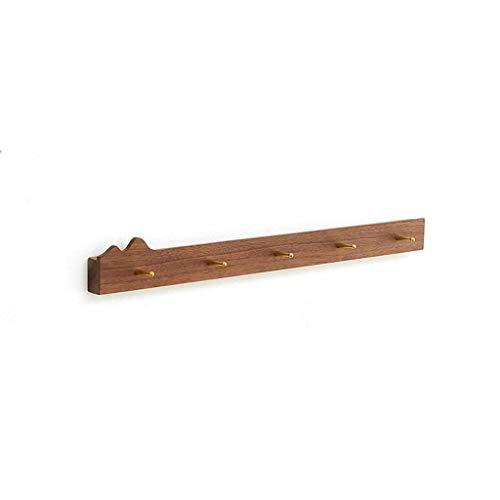 Kleiderbügel Kleiderständer Kleiderbügel Wandbehang Massivholz an der Wand Schwarz Nussbaum Schlafzimmer (Größe: 5 Haken) (Farbe : -, Größe : 5 Hooks)