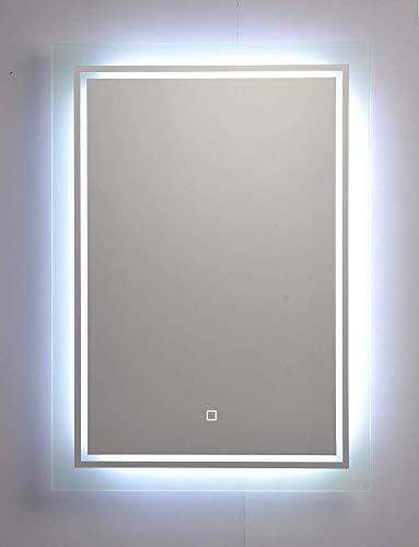 M.S.I International Master Badspiegel mit LED Beleuchtung 50x70cm mit Touchsensor