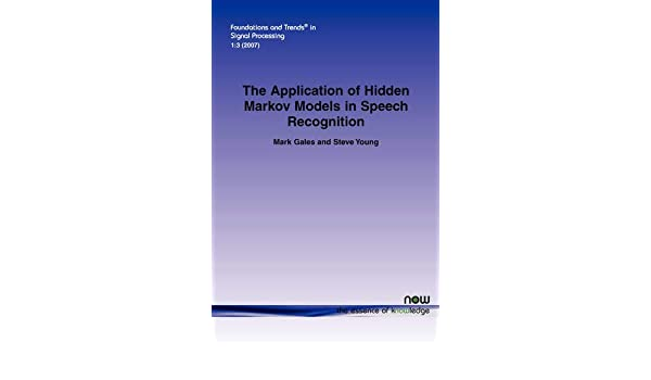 Buy The Application of Hidden Markov Models in Speech