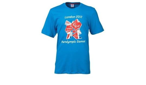Official London 2012 Mens Paralympics Union Jack Logo T-Shirt Pool Free UK P/&P!!