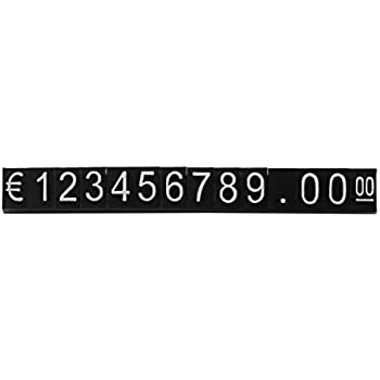 420PCS All in/€ Sign Price Cube Kit Shop Store Countertop Sale Price Display Black Cube White Letter Digital Price Tags