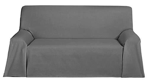 Martina Home Levante Foulard Multiusos/Plaid, Tela, Gris, 180 x 270 cm