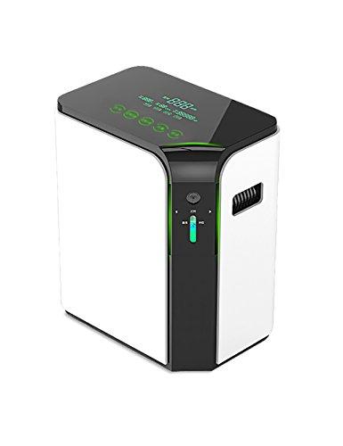 LIQICAI tragbar Sauerstoffgenerator Sauerstoffmaschine Luftstrom 1-5L Einstellen Sicherheit Ausgabe Zuhause/ Reise Luft Luftreiniger Mit Fernbedienung (Sauerstoff Sicherheits-maske)