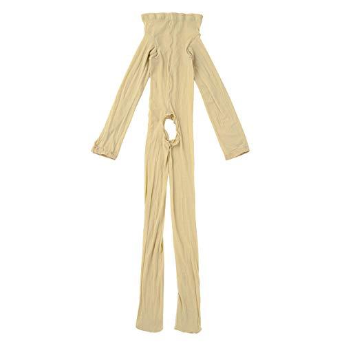 iiniim Herren Body Overall Transparent Einteiler Ganzkörperanzug Strumpfhosen mit Penishülle Männer Unterhemd Unterwäsche Nackt Ouvert Einheitsgröße -